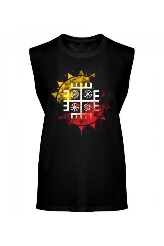Koszulka Męska Tank Top Ręce Boga Słońce