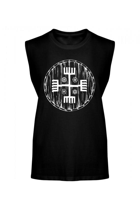 Koszulka Męska Tank Top Ręce Boga Tarcza