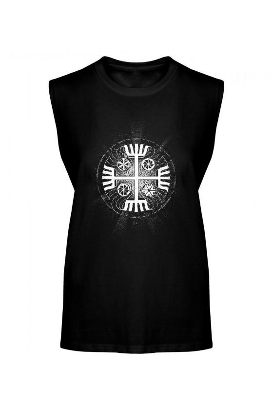 Koszulka Męska Tank Top Ręce Boga