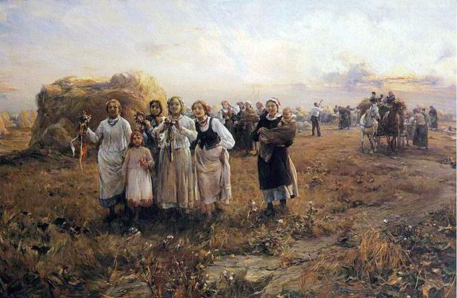 Alfred Wierusz-Kowalski, DOŻYNKI, ok. 1880 - 1890