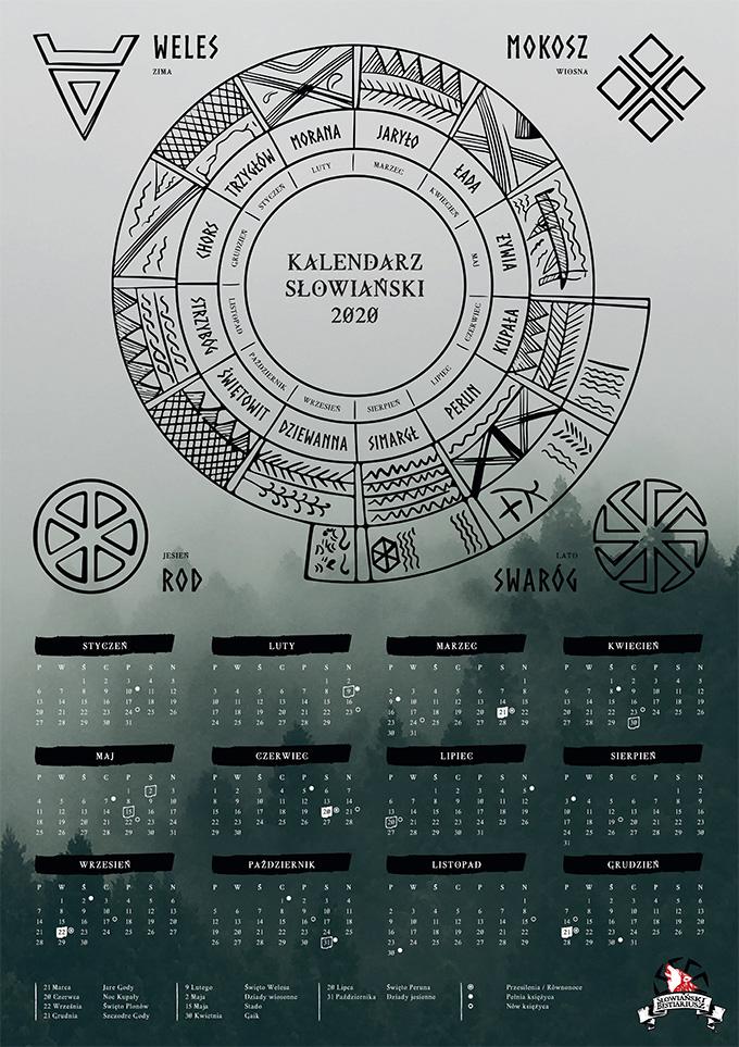 kalendarz słowiański 2020